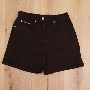 OFNY Jeans  ~ High Waisted Black Jean Shorts